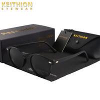 KEITHION New TR-90 Vintage Retro Polarized Sunglasses Unisex Round UV400 Eyewear