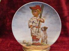 THE BIG LEAGUER collector plate GREGORY PERILLO  Baseball  Dog  Boy  Children