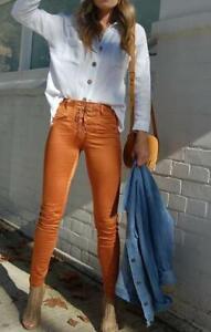 Refuge Burnt Orange Lace Up Jean - Gelato Legs (Super Stretch) HIGH RISE