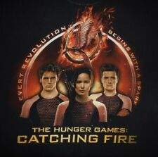 HUNGER GAMES - CATCHING FIRE- KATNISS, PEETA, FINNICK- Men's size M- Graphic Tee