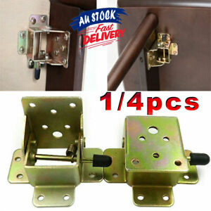 4Pcs Folding Table Leg Foldable Hinge DIY Self Lock Extension Brackets Fittings