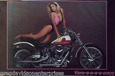Varoom 23x35 80's Sexy Pin Up Model Poster 1987 Indian Motorcycle