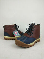 Timberland Mt. Hayes Blue/Brown Waterproof Leather Chukka Boot Women's Size 8 US