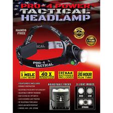 9640 Pro-4 Power 300 lumens Black LED Tactical Headlamp AAA Battery