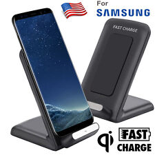 Qi Fast Wireless Charger Rapid Charging Stand for Samsung Galaxy S8 / S8 Plus US