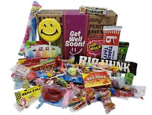 VINTAGE CANDY CO. GET WELL SOON CARE PACKAGE- Nostalgic Decade Candies GIFT B...
