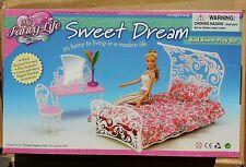 FANCY Life DOLLHOUSE FURNITURE SWEET DREAM DRESSING TABLE BEDROOM SET FOR BARBIE