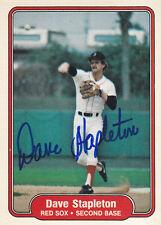 1982 Fleer Signed #308 Dave Stapleton Red Sox Autograph JSA 2B-1B