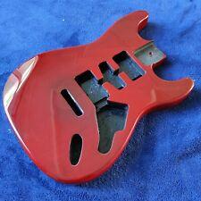 More details for new ash 45mm depth strat stratocaster style body dark trans red oxblood merlot