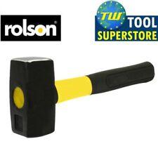 Rolson 1KG Fibreglass Club Lump Hammer Steel Head Fibre Glass Shaft Rubber Grip