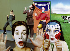 Clown MIME MASK Painting 20x27 Giclee Art Canvas **SALE