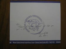 BILL  BLEIL (Western  Carolina  Catamounts) Signed  Personal Note/Fold-over Card