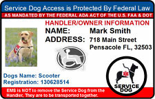 HOLOGRAM SERVICE DOG ID BADGE CARD FOR WORKING DOG AND HANDLER PET ID tag  15