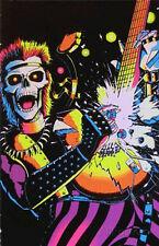 Skull Rocker Flocked Blacklight Poster Blacklight Poster Print, 23x35