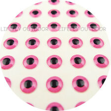 7mm Pink / Wholesale 400 Soft Molded 3D Fish Eyes, Fly Tying, Jig, Lure Craft