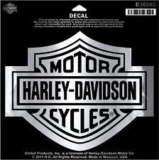 "HARLEY-DAVIDSON ADESIVO/decalcomania "" BAR + SHIELD ARGENTO "" GRANDE d3024c"