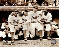 Jackie Robinson First Day 1947 Pee Wee Reese Ed Stankey Spider Jorgenson 8x10