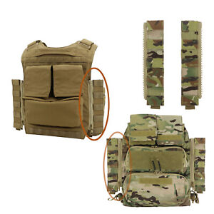 Zipper Plate 1 Pair Side Molle Panel for Tactical CP1.0 / CP2.0 Zip Back Package