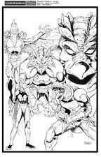 Dan Prado - PradoInkworks Jurassic Strike Force 5 Original Inked Unused Cover