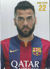 Postal postcard 22 DANI ALVES  jug.  FC BARCELONA 14/15