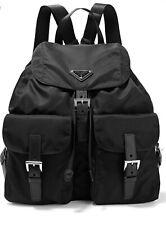 PRADA Nylon Leather Large Backpack Black / F200A