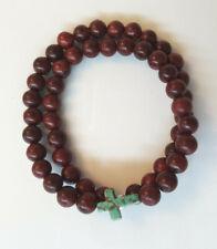 Wooden bead Double Layer Turquoise Howlite Cross Bracelet