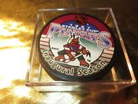 Phoenix Coyotes- Anaheim Ducks 1997 NHL Stanley Cup Playoffs 1st Hockey Puck