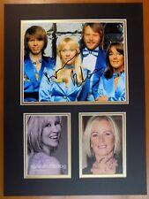 ABBA FULLY SIGNED DISPLAY 2 - UACC & AFTAL RD AUTOGRAPH - AGNETHA FALTSKOG FRIDA