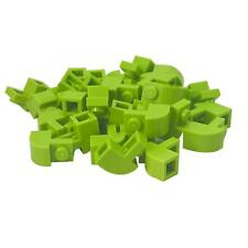 35 NEW LEGO Brick, Modified 1 x 2 x 1 1/3 with Curved Top Lime
