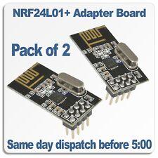 NRF24L01+ Wireless RF Transceiver Modules 2.4Ghz RF  Arduino  PI  ARM  PACK of 2