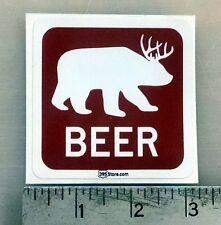 """Beer Bear sticker decal 3""""x3"""""""