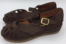 Re-Mix Classic Footwear Vintage Style Shoes - Dara Wedge- Dark Brown- Size 6