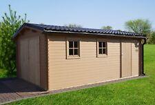 Agande Holzgarage Blockhaus Garage Autogarage Holz mit Türen 510x330,28mm 283940