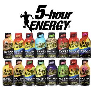 24 Mix Flavors 5 hr Energy Extra Strength Shots Exp 2022-23 (24 Shots)