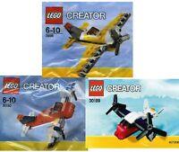 3x LEGO CREATOR Flieger Flugzeuge Transporter 30180 30189 7808 OVP im Polybeutel