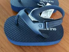 Old Navy Baby Boys 0-3 3-6 12-18 MONTHS Flip Flop Sandals NAVY BLUE Shoes #8520