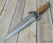 Joker Knives Made In Spain Fixed Blade Dagger Hunting Knife With Leather Sheath