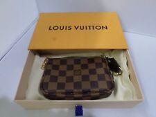 Louis Vuitton Authentic Damier Ebene Canvas Pochette Wallet  w/ Box