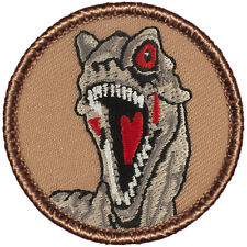 Boy Scout Patches- Dinosaur Raptor Head Patrol! (#341)