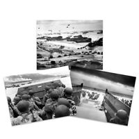 """War WWII USA Troops Landing Omaha D-Day 3 x Large Wall Art Poster Pack 18X24"""""""