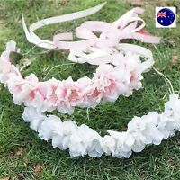 Women Girl Flower Bridal Festival Party Wedding Tiara hair headband Garland