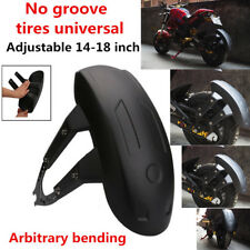 No Groove Tires Universal Black Motorcycle Rear Wheel Cover Fender With Bracket