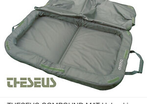 Theseus compound carp Fishing landing unhooking  mat with cover