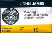 25 #10 John James English Beading Needles - Medium