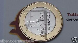 3 euro 2014 SLOVENIA bimetallico SLOVENIE 1814 1864 Janez Puhar Slovenija