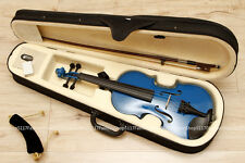 BRAND NEW only 1/4 blue VIOLIN / FIDDLE with NICE CASE & BOW