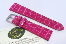 Fuchsia Alligator Strap Veritable Watch Real Elegant Polished 20/16