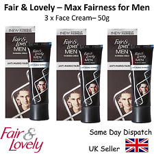 3x Fair And Lovely Mens Max Fairness Cream Skin Face Lightening Male - 50 grams