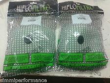 2 x HIFLO AIR FILTERS  - KTM EXC 250 - 2008 2009 2010 2011 - Hiflofiltro