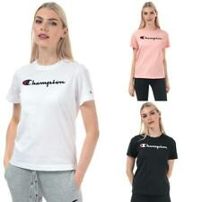 Champion Womens Large Logo Regular Fit T-Shirt in Black, Pink, and White